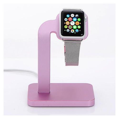 Док-станция для Apple Watch - Coteetci Base4 розовая