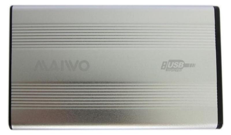 Карман внешний Maiwo K2501A-U2S 2.5 USB 2.0 silver