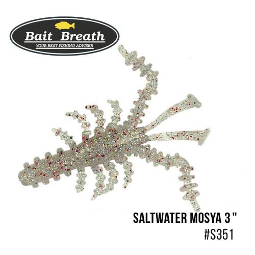 Приманка Bait Breath Saltwater Mosya 2 10 шт (S351 UV Hologram Clear/Red)