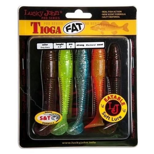 Виброхвост Lucky John Tioga Fat Pro Series 3.9 5 штук (140146-MIX1)