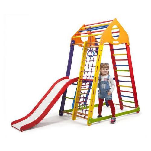Развивающий спортивный комплекс для малышей SportBaby BambinoWood Color Plus 2 Разноцветный (BambinoWoodColor Plus 2)