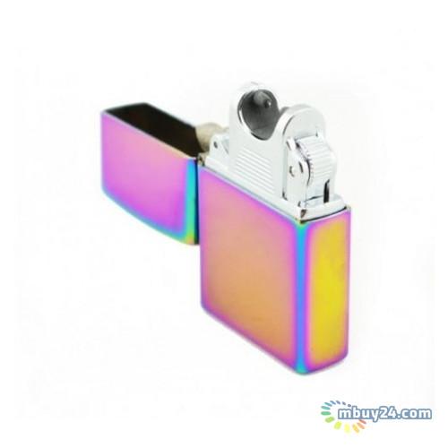 Зажигалка электрическая Jinlun 215 импульсная дуга в стиле Zippo microUSB