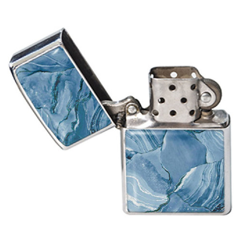Зажигалка DevayS Maker DM 01 Мрамор голубой синяя (24-08-435)