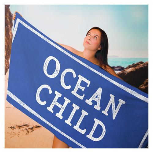 Полотенце большое с принтом Ocean child PLB_21J021