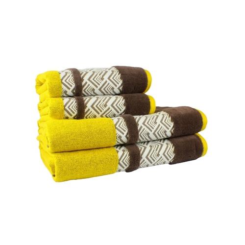 Полотенце Hobby NAZENDE 70*140 желтый/коричневый 560г/м2 (313750)