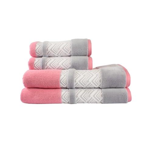 Полотенце Hobby NAZENDE 70*140 розовый/серый 560г/м2 (313835)