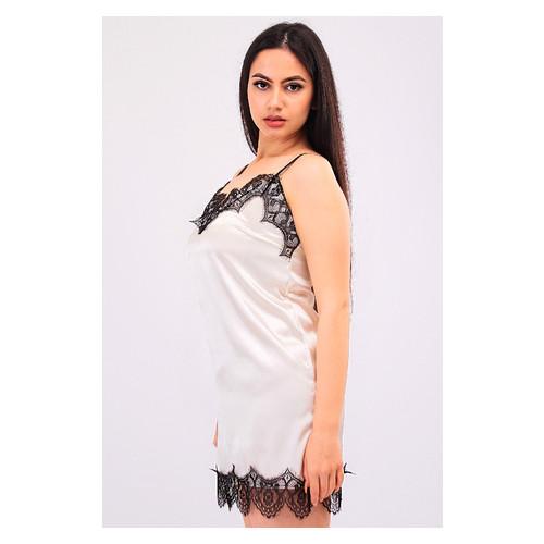 Комплект Эмилия Ghazel 17111-52 Размер 46 черный халат/кремовый пеньюар