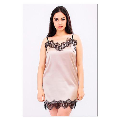 Комплект Эмилия Ghazel 17111-52 Размер 46 черный халат/натуральный комплект