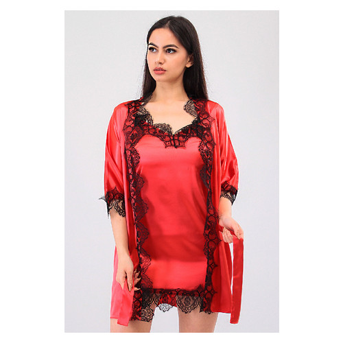 Комплект Милада Ghazel 17111-57 Размер 46 красный халат/красный пеньюар