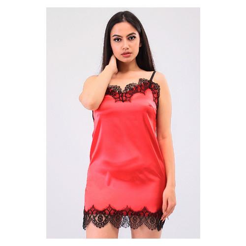Комплект Милада Ghazel 17111-57 Размер 42 черный халат/красный пеньюар
