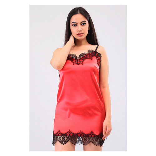 Комплект Милада Ghazel 17111-57 Размер 44 черный халат/красный пеньюар