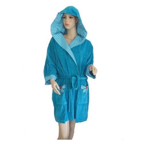 Халат Arya женский с капюшоном 13035 XL темно-бирюзовый (8690000012978)