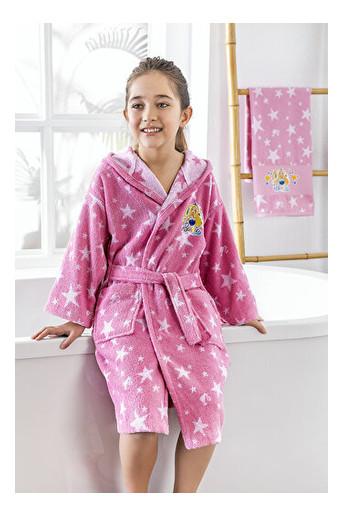 Набор халат с полотенцем Ozdilek Barbie 5-6 лет розовый (8697353474873)