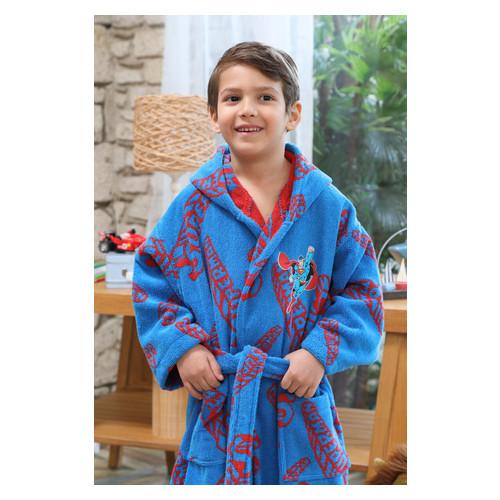 Набор халат с полотенцем Ozdilek SuperMan 9-10 лет синий (8697353488603)