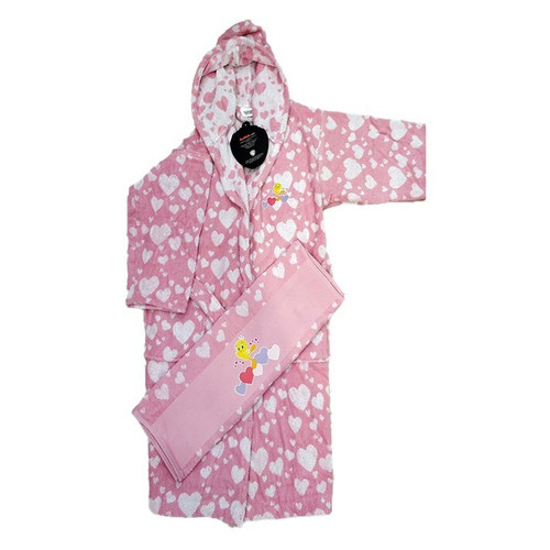 Набор халат с полотенцем Ozdilek Tweety 11-12 лет розовый (8697353488900)
