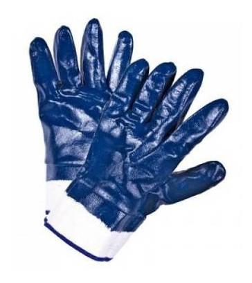 Перчатки рабочие Inter Globus Синие прорезиненные, 1 пара 118211