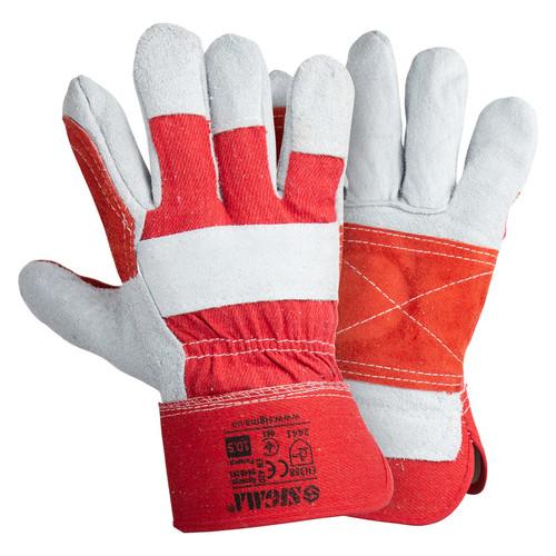 Перчатки Sigma комбинированные замшевые р10.5 класс АВ (усиленная ладонь) (9448381)