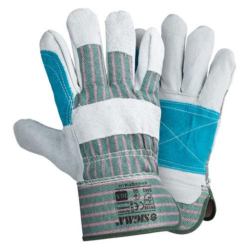 Перчатки Sigma комбинированные замшевые р10.5 класс ВС (усиленная ладонь) (9448401)