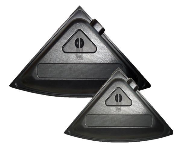 Крышка для аквариума Природа Люкс 57х57 угловая черная