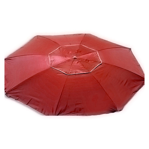 Зонт пляжный антиветер Stenson MH-2684 d2.0м серебро красный