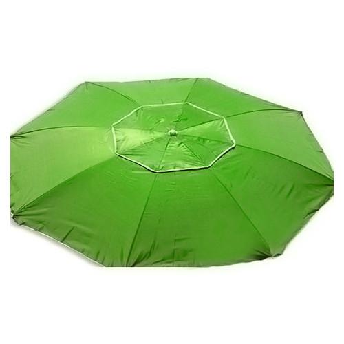 Зонт пляжный антиветер Stenson MH-2684 d2.0м серебро салатовый