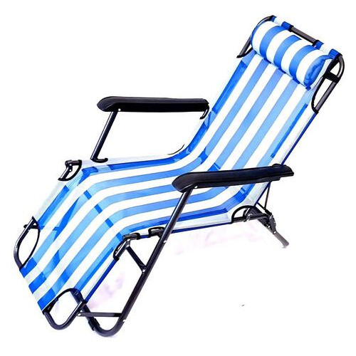 Кресло-шезлонг Stenson MH-3913 153х60х80 см бело-голубой (ZE35iz12620)