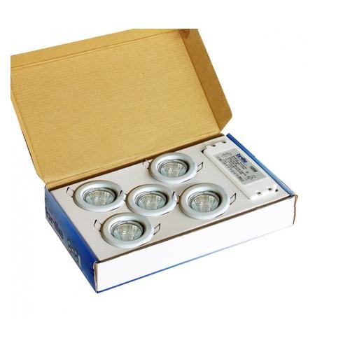 Комплект точечных светильников Brille SET 6/HDL-S02 Chrome (82) 5x20W W/T