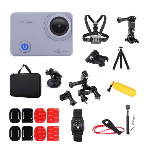 Набор лыжника 35 в 1: экшн-камера AIRON ProCam 7 Touch с аксессуарами (4822356754796)
