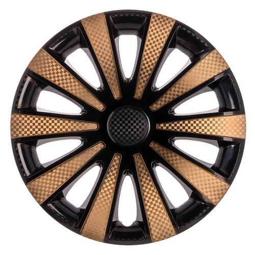 Колпаки на колеса Star Карат Super Black R14 Gold (Комплект 4 шт.)