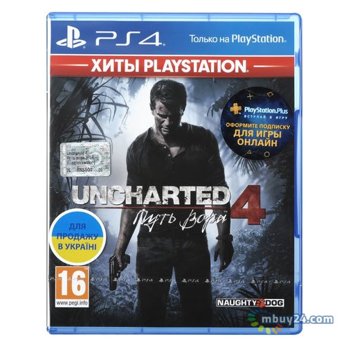 Игра Uncharted 4: Путь вора для Sony PlayStation 4 Russian version Blu-ray (9420378)