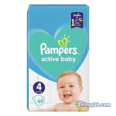 Подгузник Pampers Active Baby Maxi Размер 4 (9-14 кг), 49 шт. (8001090949851)