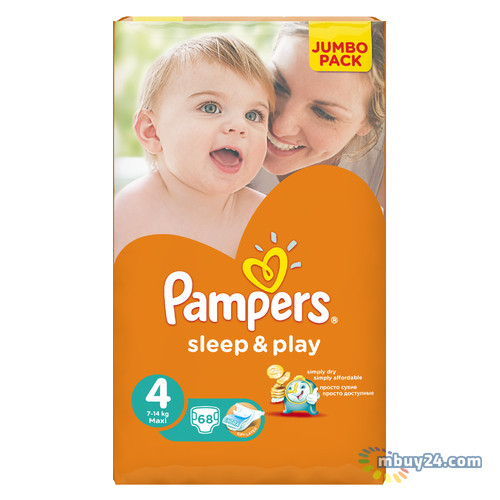 Подгузник Pampers Sleep & Play Maxi 7-14 кг 68шт (4015400203551)