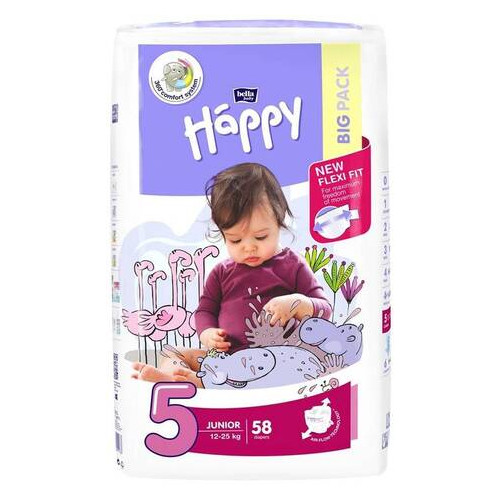 Подгузники Bella Happy Junior 5 (12-25 кг), 58 шт 601133