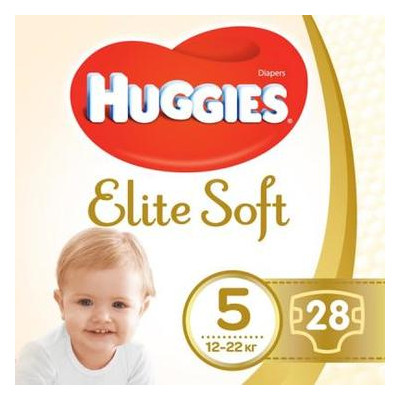 Подгузник Huggies Elite Soft 5 12-22кг Jumbo 28шт (5029053547794)