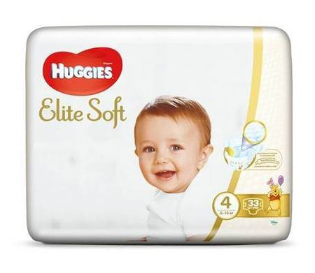 Подгузники Huggies Elite Soft Jumbo 4 (8-14 кг), 33 шт 547787