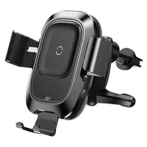 Держатель автомобильный+беспроводное ЗУ Baseus Smart 2А Black (468803)