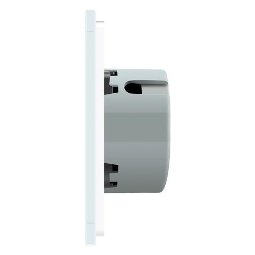 Сенсорный проходной выключатель Livolo 2-2 с дистанционным управлением, цвет белый (VL-C702SR/C702SR-11)