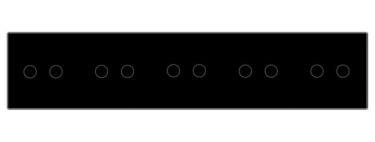 Сенсорный выключатель 10 каналов (2-2-2-2-2) Livolo дистанционное управление черный стекло (VL-C710R-12)