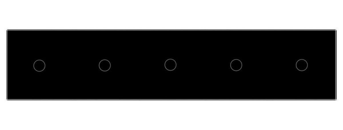Сенсорный выключатель Livolo 5 каналов (1-1-1-1-1) черный стекло (VL-C705-12)