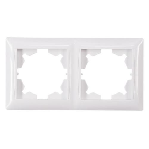 Рамка 2-я горизонтальная Luxel PRIMERA (3022) белая