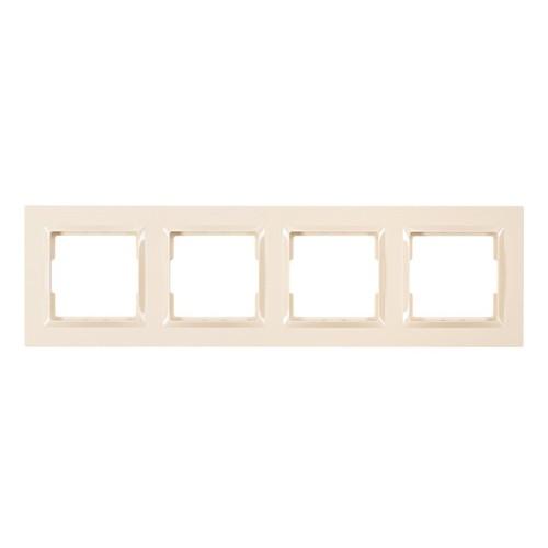 Рамка 4-я горизонтальная Luxel JAZZ (9324) кремовая