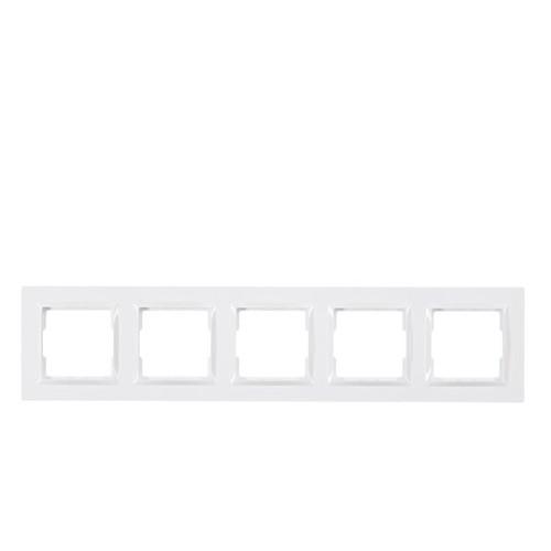 Рамка 5-я горизонтальная Luxel JAZZ (9025) белая