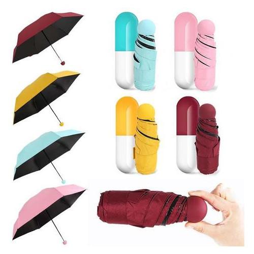 Компактный складной зонт с чехлом Капсула (ЗН-032)