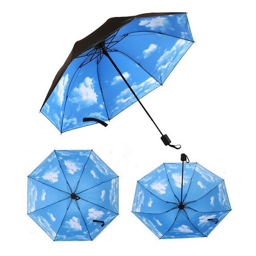 Красивые складные зонт Небо (ЗН-017а)