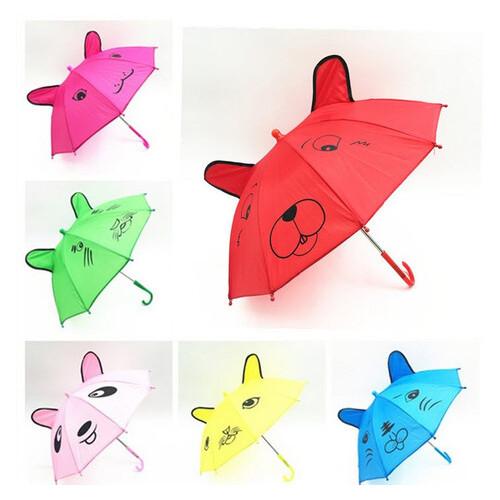 Стильный детский зонт трость с ушками и мордочкой (ЗН-001)