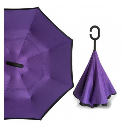 Зонт складной навыворот Umbrella № 63J Фиолетовый