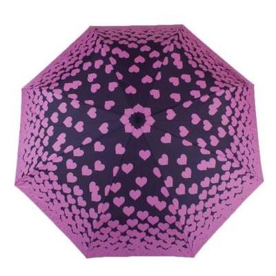 Зонт женский механический компактный облегченный Fulton FULL354-Floating-Hearts