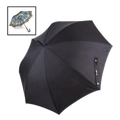 Зонт-трость женский полуавтомат с двойным куполом Fulton FULL847-Blumsbury-2Skiff
