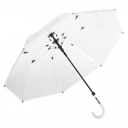 Зонт трость полуавтомат Fare 7112 прозрачный/белый