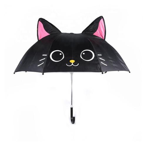Зонт детский Shantou Котик черный (UM52610-2)